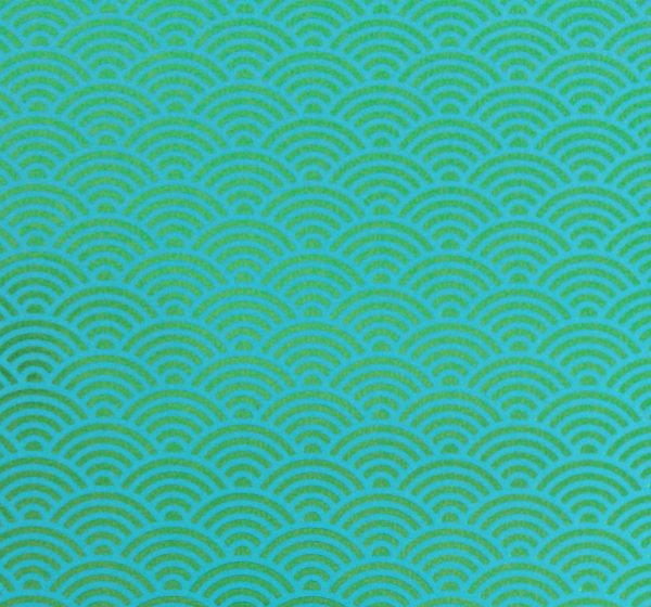 Nahaufnahme CEDON Metallic Wave green