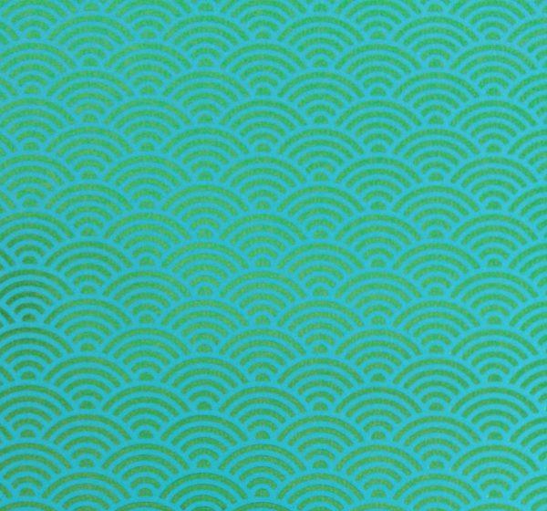 Nahaufnahme CEDON Metallic Wave green