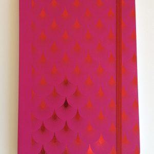 Notizbuch Metallic Sunburst red DIN A5