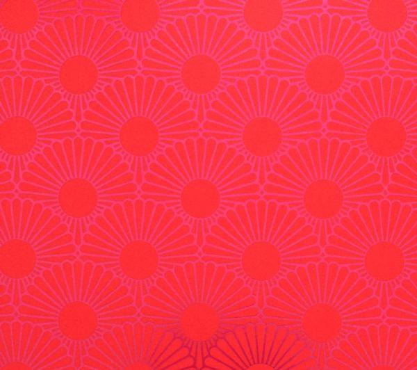 Detailansicht Metallic Daisy red
