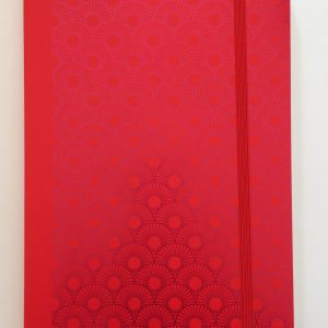 Notizbuch Metallic Daisy red