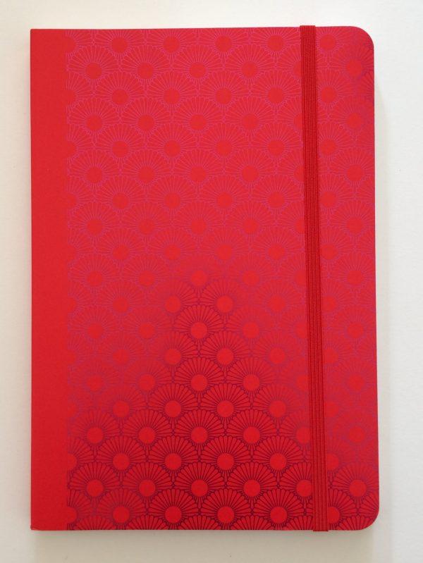 Notizbuch Metallic Daisy red
