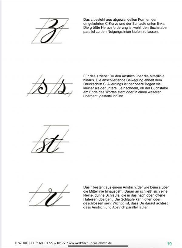 Kleinbuchstaben Brush Lettering