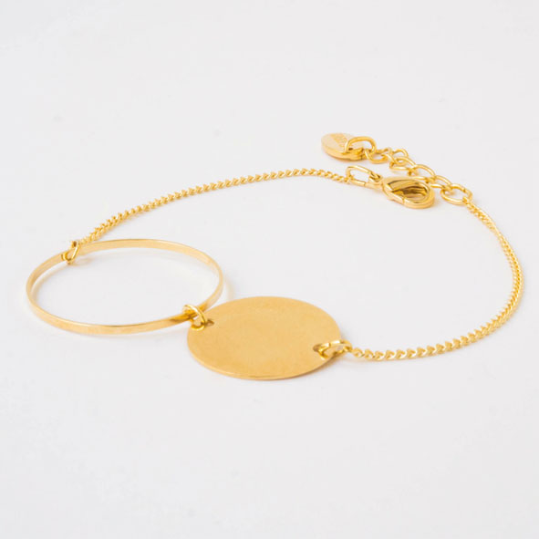 Armband Bubble gold/silber