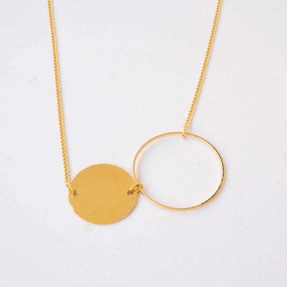 Kette Bubble gold/silber