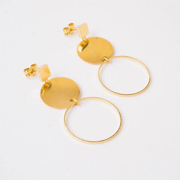 Ohrhänger Bubble gold/silber