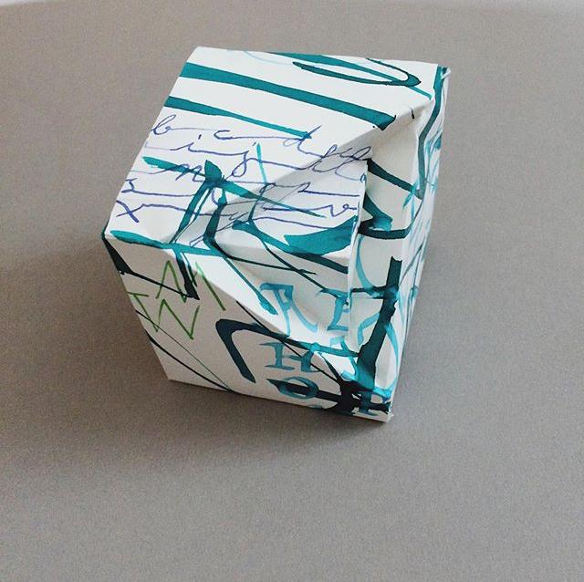 Schachtel mit Kalligrafie