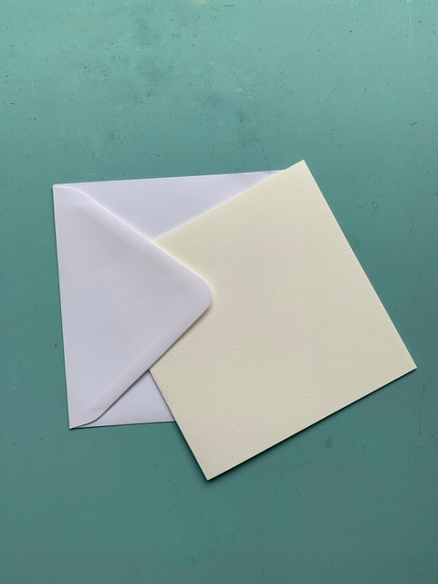 Briefkarte quadratisch