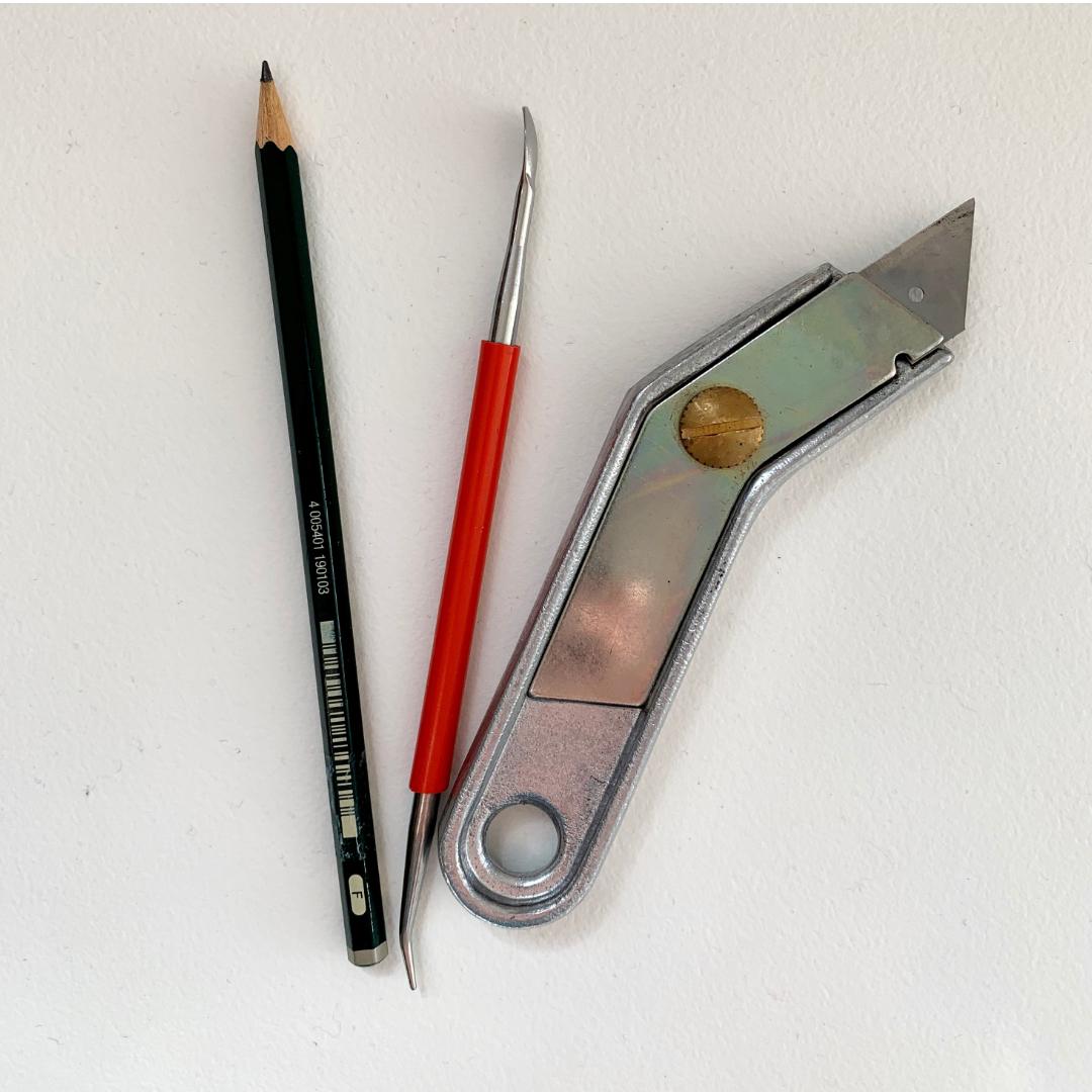 Werkzeuge zum Papierprägen